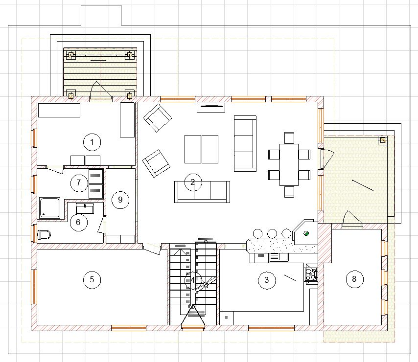 1 этаж с мебелью