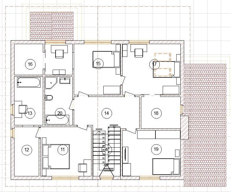 2 этаж с мебелью
